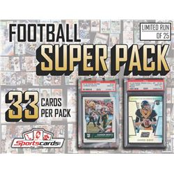 """""""FOOTBALL SUPER PACK"""" Mystery Box – 33 CARDS PER PACK! *WOW*"""