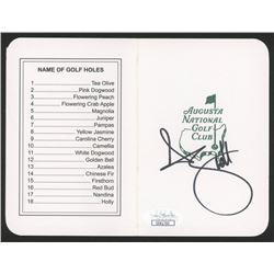 Adam Scott Signed Augusta National Golf Club Score Card (JSA COA)