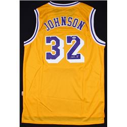 Magic Johnson Signed Los Angeles Lakers Adidas Jersey (PSA COA)