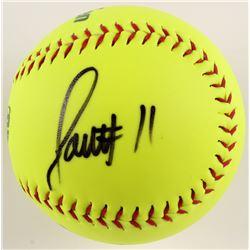 "Larry Fitzgerald Signed City of Peoria Logo Softball Inscribed ""SO"" (PSA COA)"