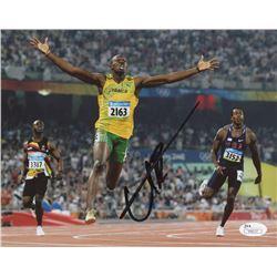 Usain Bolt Signed Team Jamaica 8x10 Photo (JSA COA)