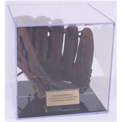 "Frank Robinson Signed Rawlings Baseball Glove with Display Case Inscribed ""HOF 1982"" (PSA COA)"
