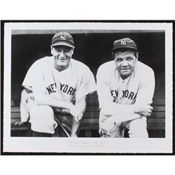 """The Hulton Archive - Babe Ruth  Lou Gehrig """"The Iron Horse  The Babe"""" Limited Edition 17x22 Fine Art"""