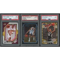 Lot of (3) PSA Graded 9 Basketball Cards with 2009-10 Upper Deck Draft Edition #40 James Harden, 200