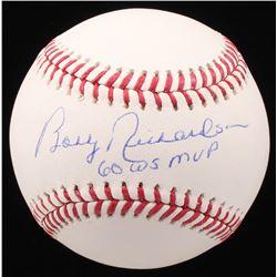 """Bobby Richardson Signed OML Baseball Inscribed """"60 WS MVP"""" (JSA COA)"""