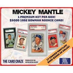 The Card Craze Mickey Mantle Premium Baseball Card Mystery Box (1 Hit Per Box)