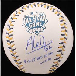 "Aledmys Diaz Signed 2016 All-Star Game Logo Baseball Inscribed ""First All Star Game"" (JSA COA)"