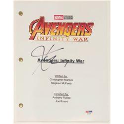 """Karen Gillan Signed """"Avengers: Infinity War"""" Full Movie Script (PSA COA)"""
