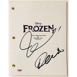 "Idina Menzel  Demi Lovato Signed ""Frozen"" Full Movie Script (PSA COA)"