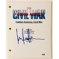 "Elizabeth Olsen Signed ""Captain America: Civil War"" Full Movie Script (PSA COA)"