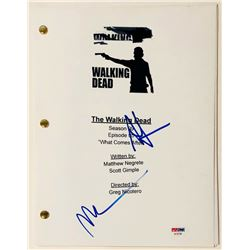 "Andrew Lincoln  Norman Reedus Signed ""Walking Dead"" Full ""What Comes After"" Script (PSA COA)"