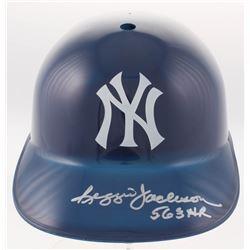 """Reggie Jackson Signed New York Yankees Full-Size Batting Helmet Inscribed """"563 HR"""" (JSA COA)"""