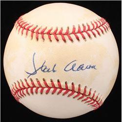 Hank Aaron Signed ONL Baseball (JSA LOA  Steiner Hologram)
