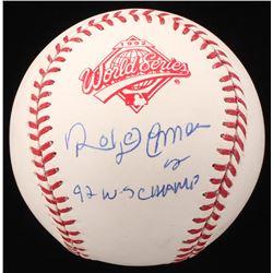"Roberto Alomar Signed 1992 World Series Baseball Inscribed ""92 W-S Champ"" (JSA COA)"