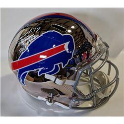 "Josh Allen Signed Buffalo Bills Full-Size Chrome Speed Helmet Inscribed ""Bills Mafia"" (JSA COA)"