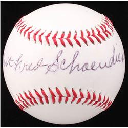 Albert Fred Schoendienst Signed Baden Baseball (JSA COA)