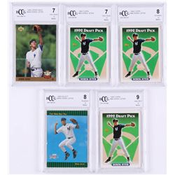 Lot of (5) BCCG Graded Derek Jeter Baseball Cards with (3) 1993 Topps #98 RC (BCCG 7, 8  9), 1993 Se