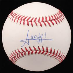 Amed Rosario Signed OML Baseball (Beckett COA)