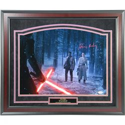 "Daisy Ridley Signed ""Rey In Forest With Kylo Ren  Finn"" 16x20 Photo (PSA  Steiner COA)"
