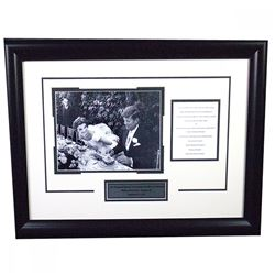 John F Kennedy 18x24 Custom Framed Wedding Invitation Collage