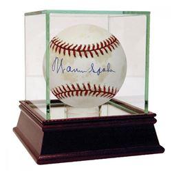 Warren Spahn Signed ONL Baseball (JSA COA)