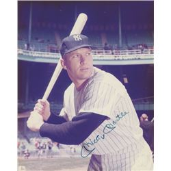 Mickey Mantle Signed New York Yankees 8x10 Photo (JSA ALOA)