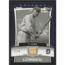 2005 Upper Deck Trilogy Generations Past Lumber Silver #TC Ty Cobb