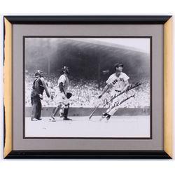 "Ted Williams Signed ""McCarthy Classic Swing Splendid Splinter"" 22.25x26.25 Custom Framed Inscribed """