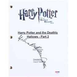 "Helena Bonham Carter Signed ""Harry Potter and the Deathly Hallows- Part 2"" Movie Script (PSA COA)"