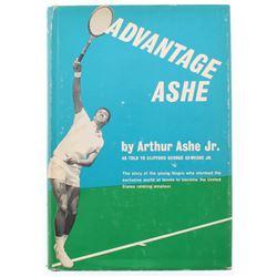 "Arthur Ashe Signed ""Advantage Ashe"" Hard Cover Book (JSA COA)"
