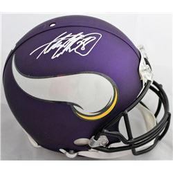 Adrian Peterson Signed Minnesota Vikings Authentic On-Field Full-Size Helmet (Beckett COA)