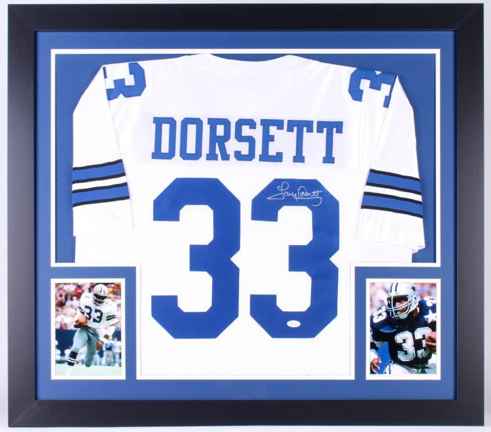 brand new 7f863 8f7f7 Tony Dorsett Signed Dallas Cowboys 31x35 Custom Framed ...