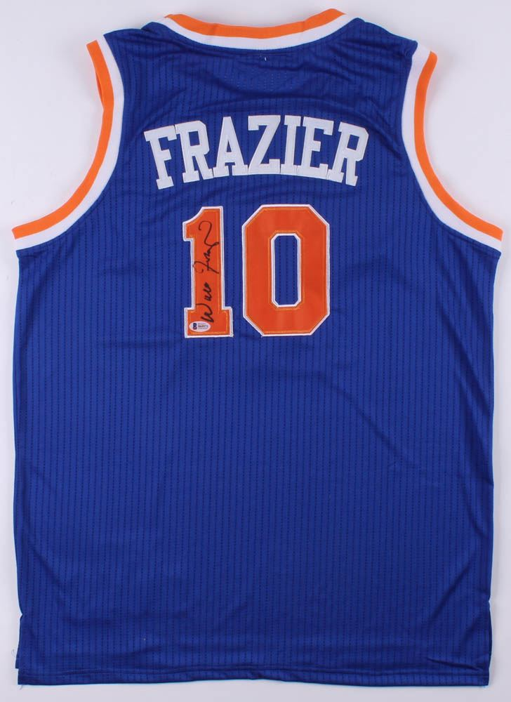 timeless design 6dd33 4bfa4 Walt Frazier Signed New York Knicks Jersey (Beckett COA)