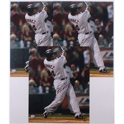 Lot of (3) Manny Ramirez Signed Boston Red Sox 16x20 Photos (PSA Hologram)