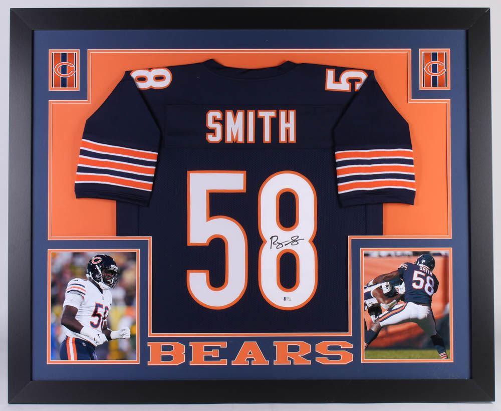 new concept fe79e 99101 Roquan Smith Signed Chicago Bears 35x43 Custom Framed ...