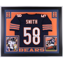 Roquan Smith Signed Chicago Bears 35x43 Custom Framed Jersey (Beckett Hologram)