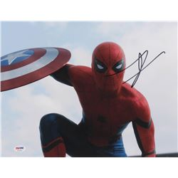 "Tom Holland Signed ""Captain America: Civil War"" 11x14 Photo (PSA COA)"