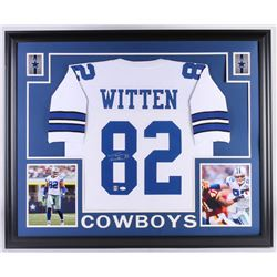 Jason Witten Signed Dallas Cowboys 35x43 Custom Framed Jersey (JSA COA  Witten Hologram)