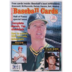Mark McGwire Signed 1989 Baseball Cards Magazine (Beckett COA)