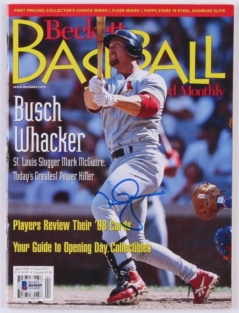 Mark Mcgwire Signed 1998 Beckett Baseball Card Magazine Beckett