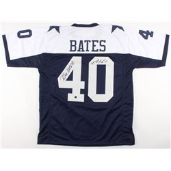 "Bill Bates Signed Dallas Cowboys Jersey Inscribed ""Sup Bowl Champs 92-93-95"" (JSA COA  Player's Lock"