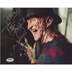 "Robert Englund Signed ""Nightmare on Elm Street"" 8x10 Photo Inscribed ""Freddy""  ""2011"" (PSA COA)"
