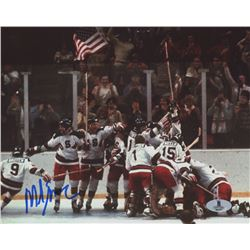 Mike Eruzione Signed Team USA 8x10 Photo (Beckett COA)