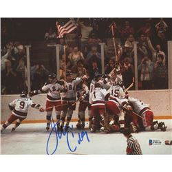 Jim Craig Signed Team USA 8x10 Photo (Beckett COA)