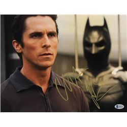 Christian Bale Signed  The Dark Knight  11x14 Photo (Beckett COA)