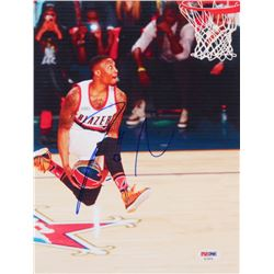 Damian Lillard Signed Portland Trail Blazers 8x10 Photo (PSA COA)