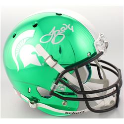 LeVeon Bell Signed Michigan State Spartans Custom Chrome Full-Size Helmet (JSA COA)
