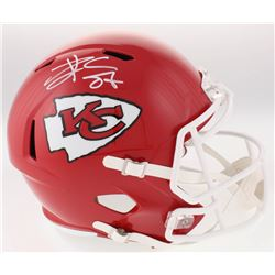 Travis Kelce Signed Kansas City Chiefs Full-Size Speed Helmet (Radtke COA)