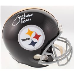 Joe Greene Signed Pittsburgh Steelers Full-Size Throwback Helmet Inscribed  HOF 87  (Radtke COA)