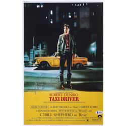 "Martin Scorsese Signed ""Taxi Driver"" 11x17 Movie Poster (Beckett COA)"